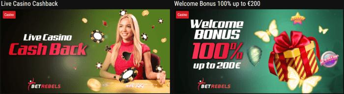 Μπόνους καζίνο Betrebels